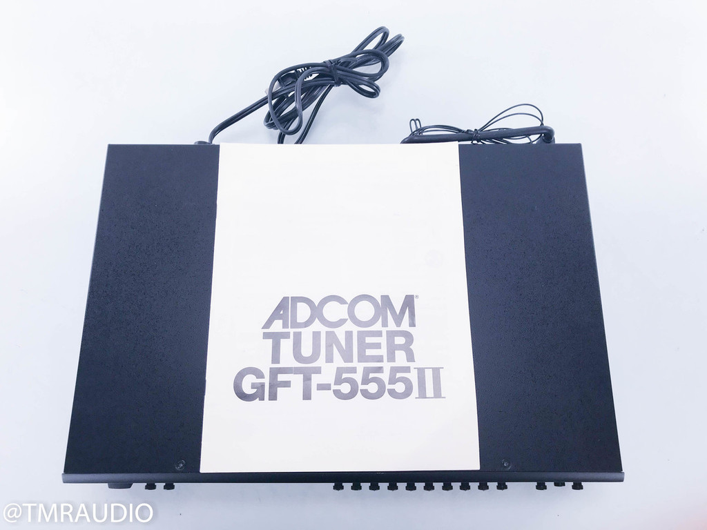 Adcom GFT-555 II AM / FM Digital Tuner; Black; GFT-555II