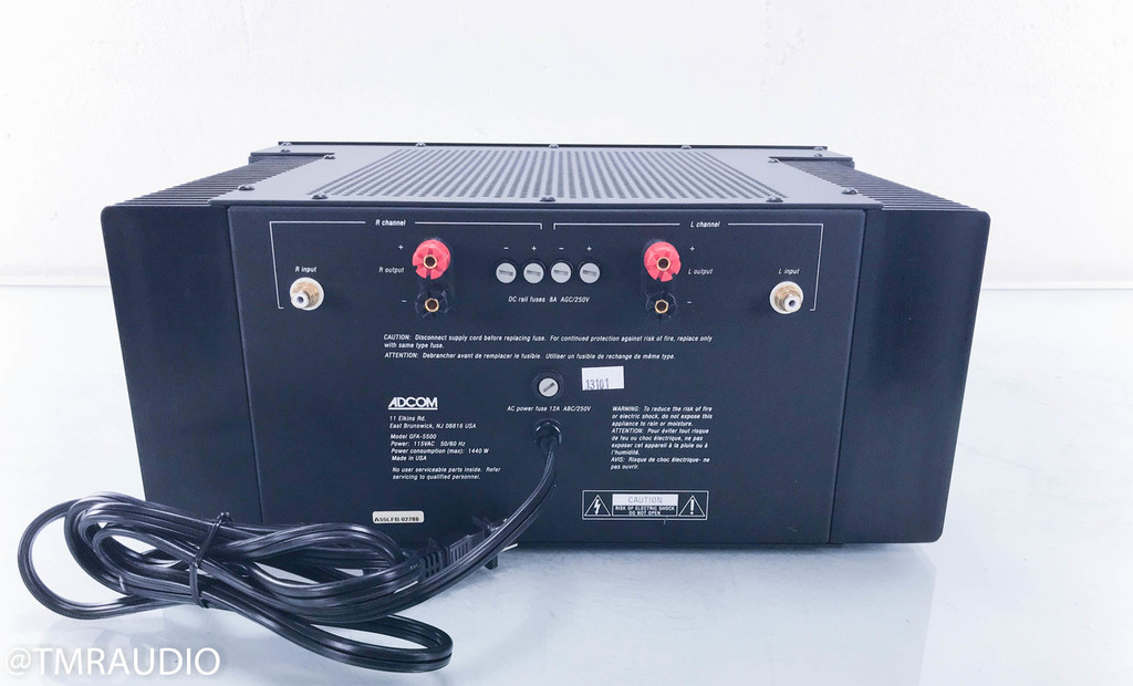 Adcom GFA-5500 Stereo Power Amplifier (1/2)