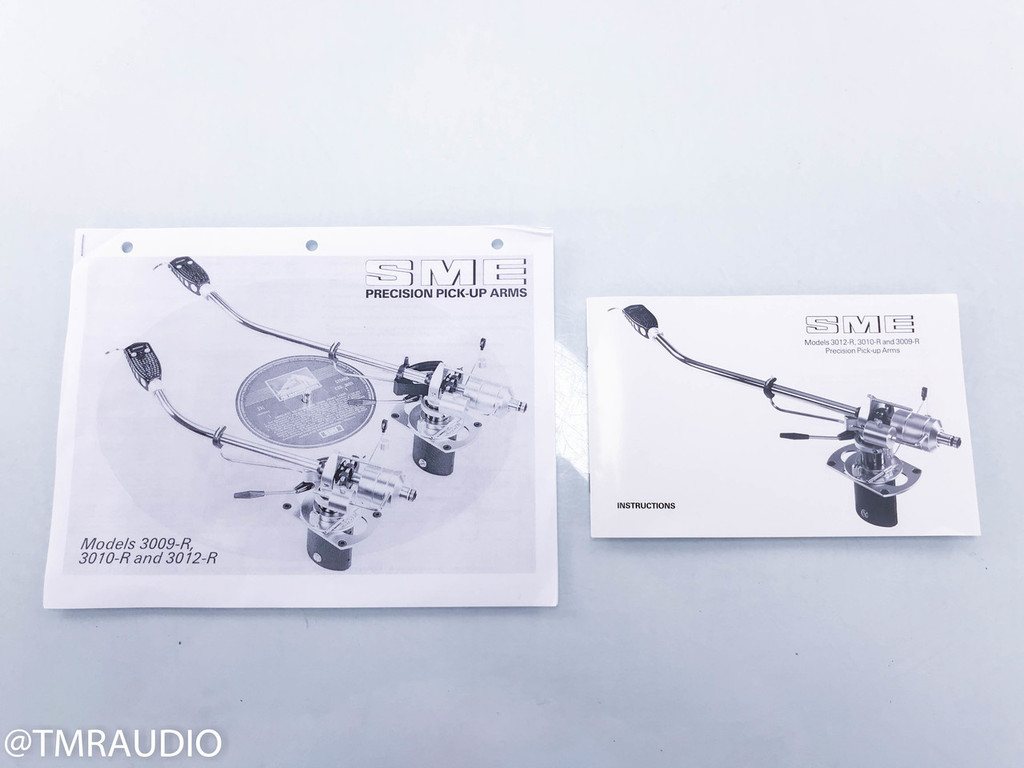 "SME 3012-R Series II 12"" Tonearm; Balanced Cables; Denon DL-103R Cartridge"