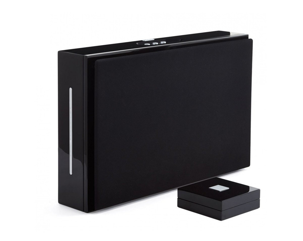 REL Habitat1 Powered On-Wall Subwoofer; Gloss Black (New Old Stock)