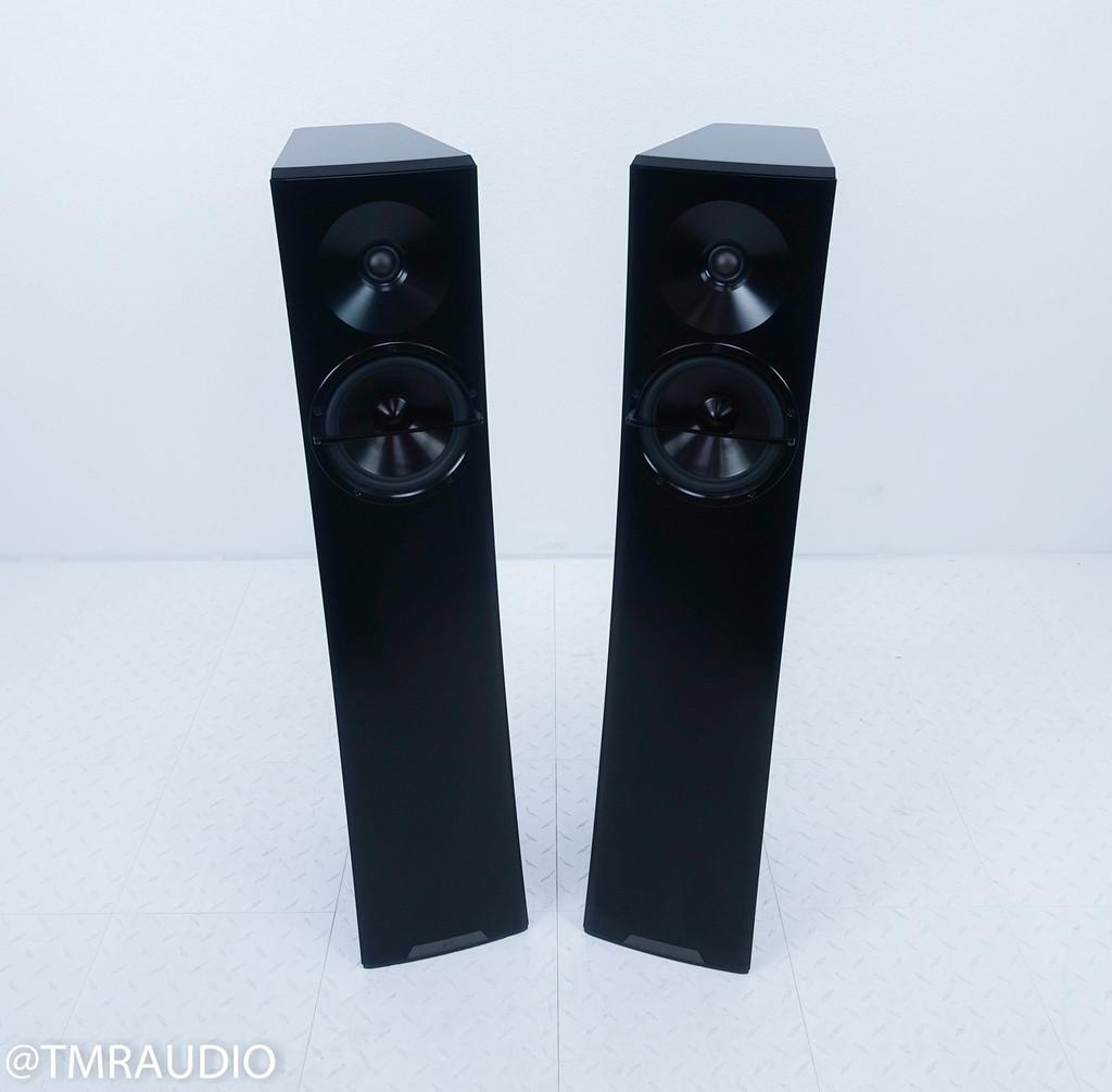 YG Acoustics Carmel 2 Floorstanding Speakers; Black Pair (Less than 3 months old)