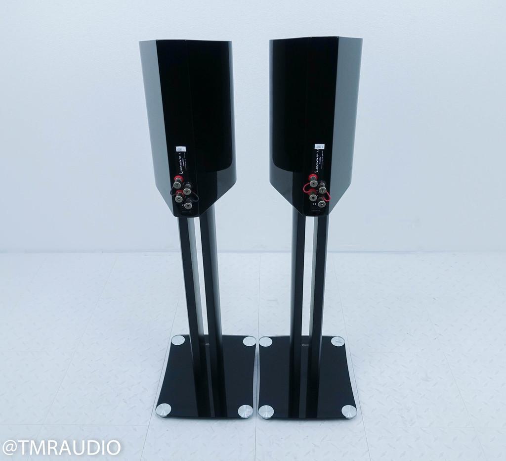 Sonus Faber Venere 1.5 Bookshelf Speakers; Gloss Black Pair w/ Stands