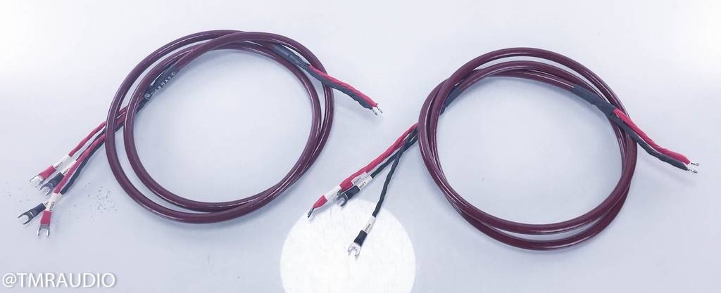 Cardas Golden Cross Bi-Wire Speaker Cables; 2.5m Burgundy Pair