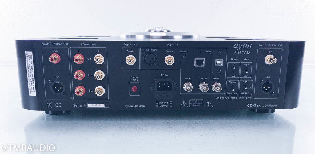 Ayon CD-3sx Tube CD Player / DAC / Preamplifier; Black