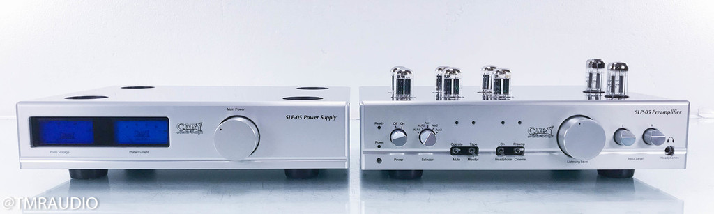 Cary SLP-05 Stereo Tube Preamplifier; Silver; Remote
