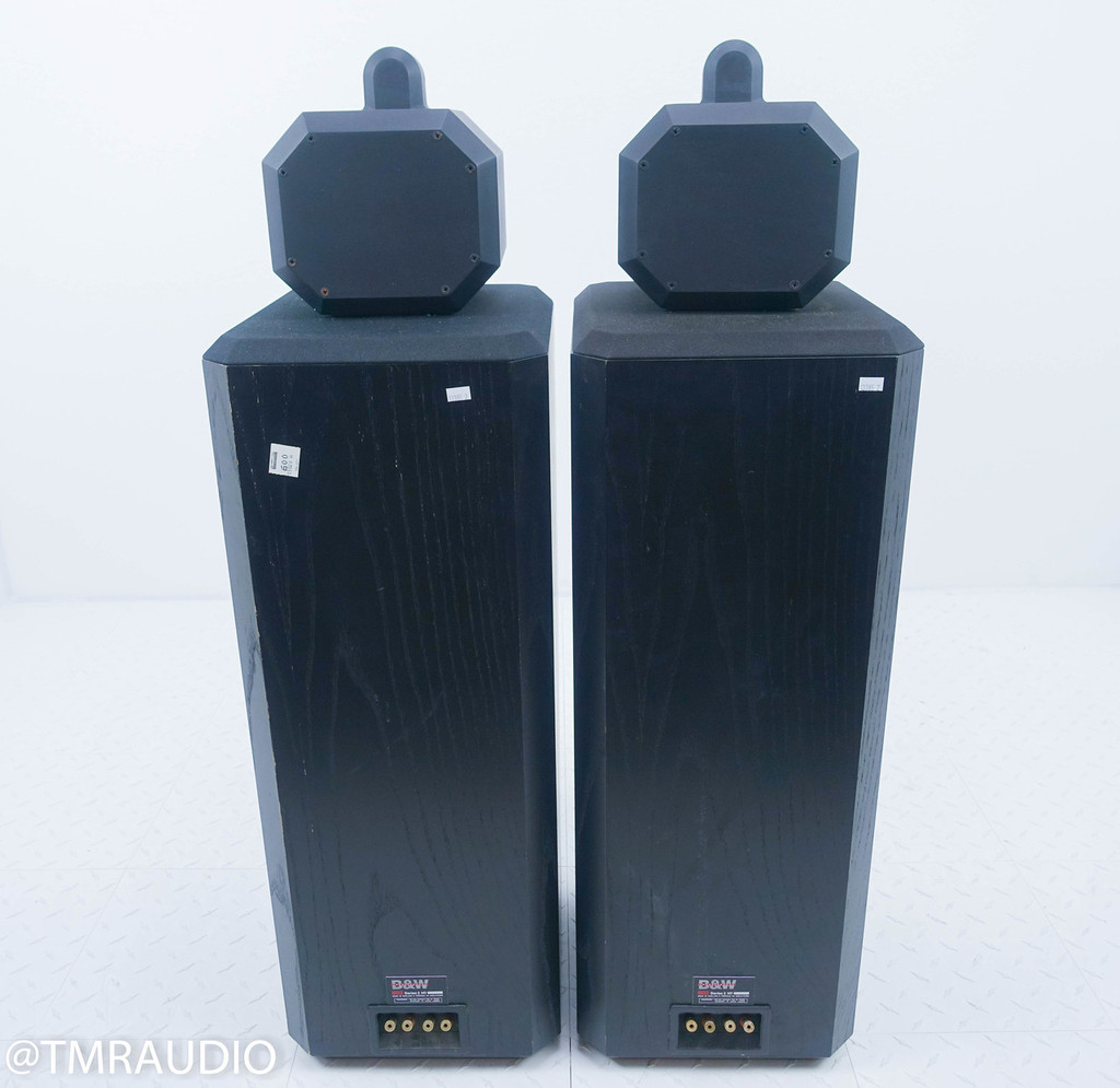 B&W Matrix 802 Series 2 Vintage Floorstanding Speakers; Black Ash Pair