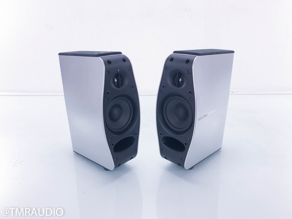 Focal XS Book Powered Bookshelf Speakers; Pair; AS-IS (High-pitched noise)