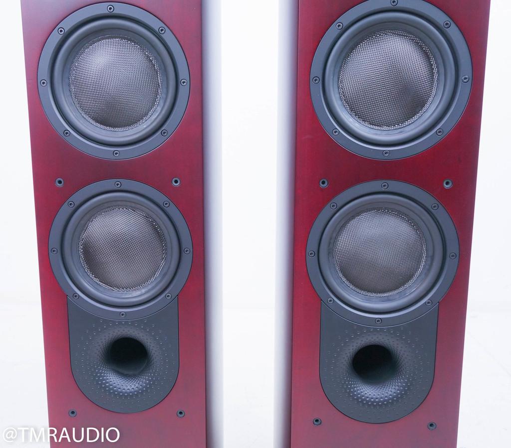 B&W Nautilus 804 Floorstanding Speakers; Red Cherry Pair