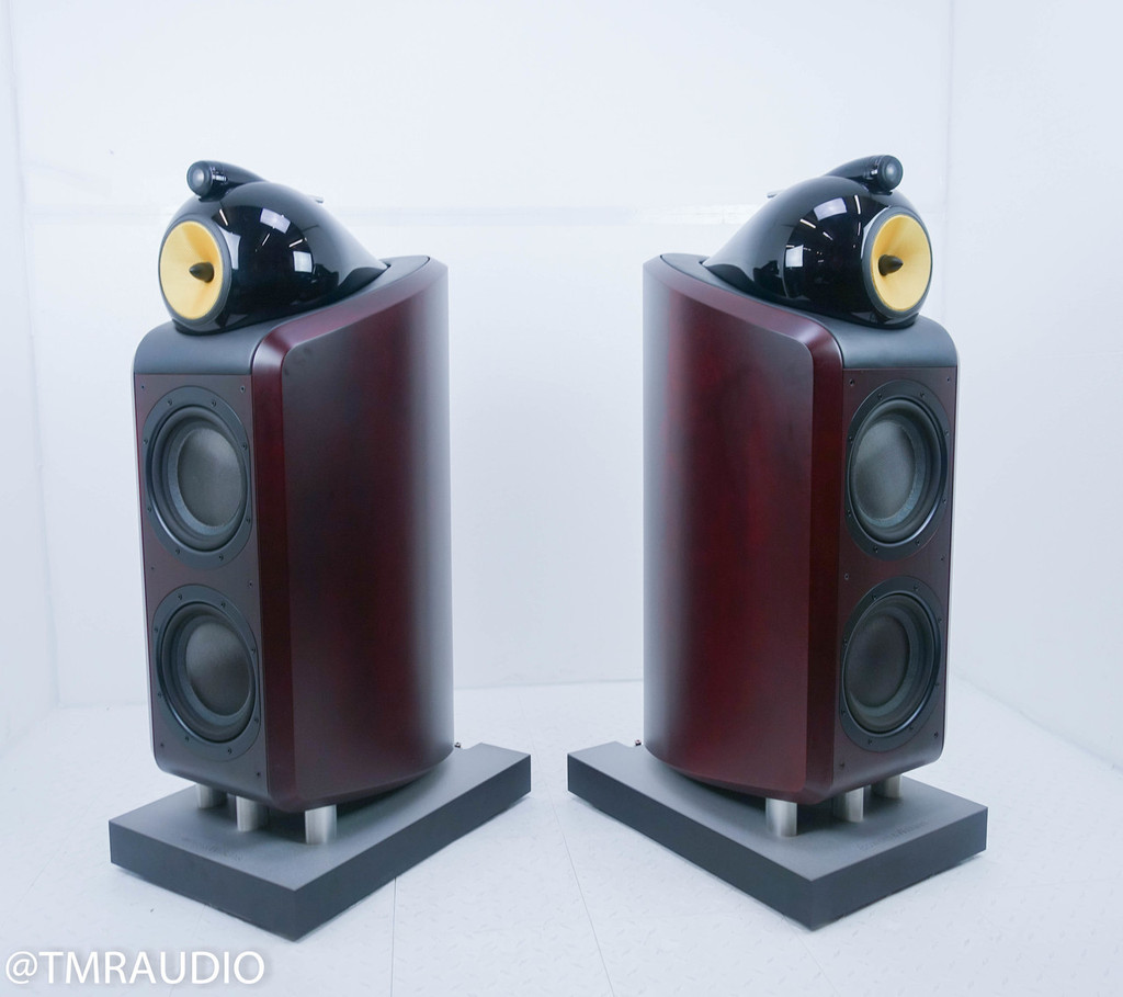 (hold  counter sunnyhamlet 6-18 RB) B&W Nautilus 800 Floorstanding Speakers; Red Cherry Pair
