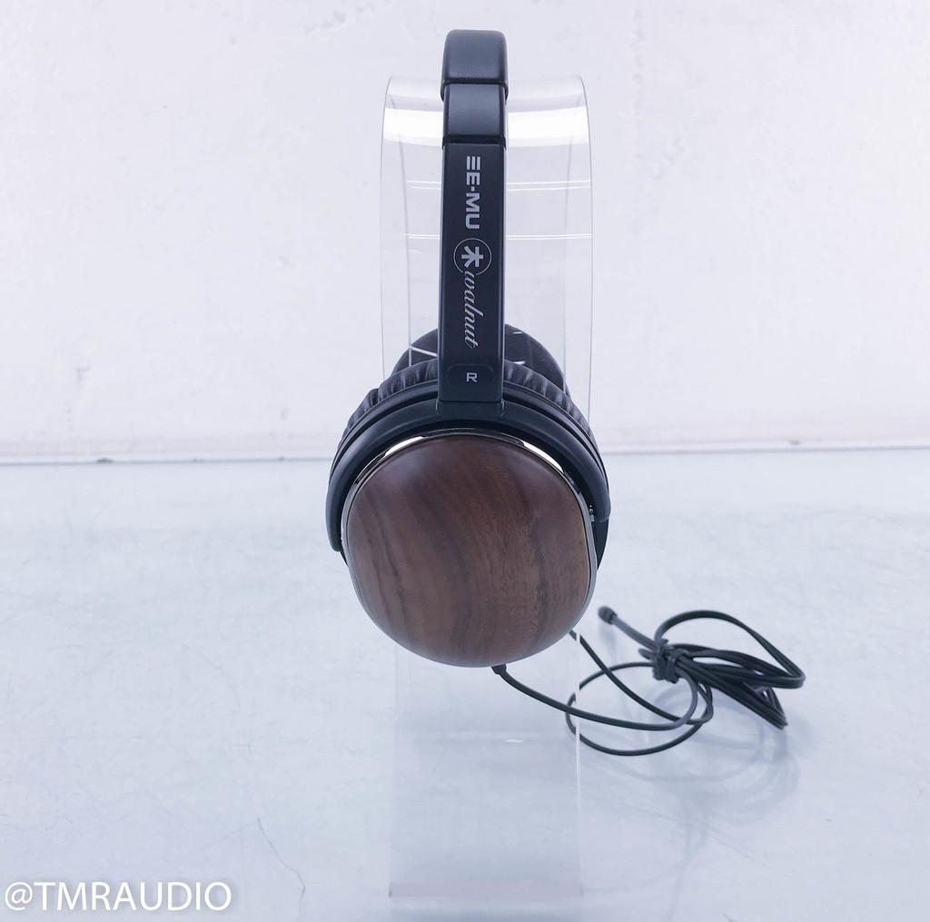 E-MU Walnut Over Ear Dynamic Headphones; Wood Series
