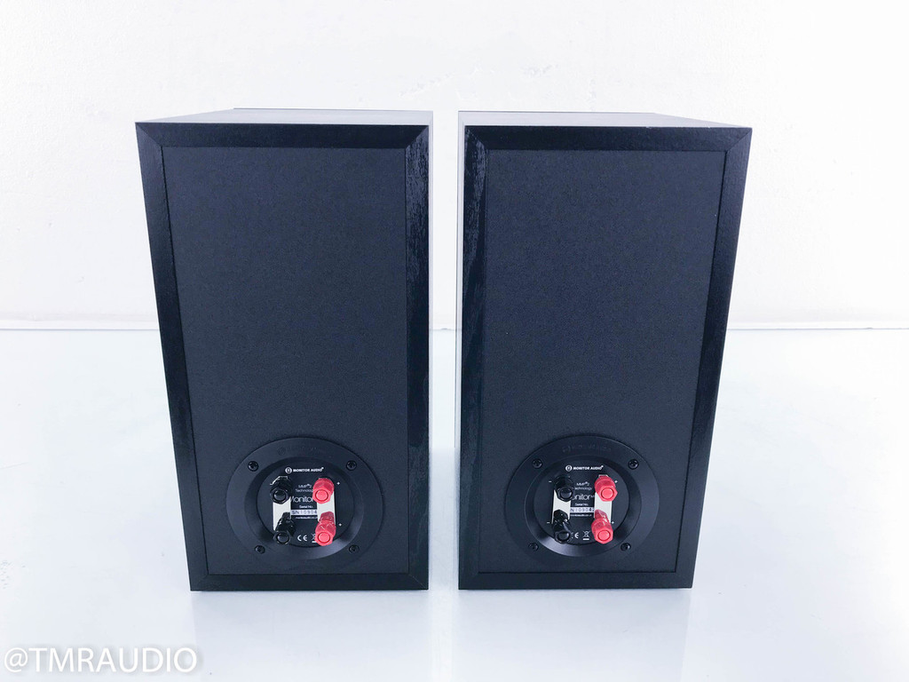 Monitor Audio MR2 Bookshelf Speakers; Black Oak Pair; Monitor Reference 2