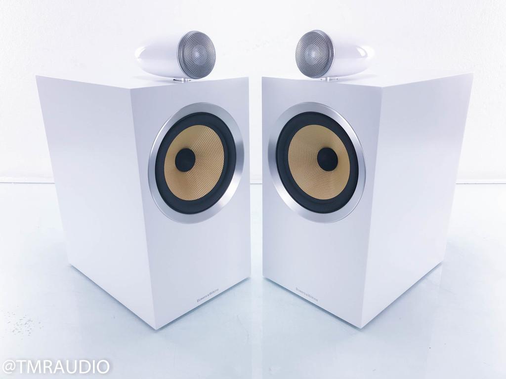 B&W CM6 S2 Bookshelf Speakers; White Pair