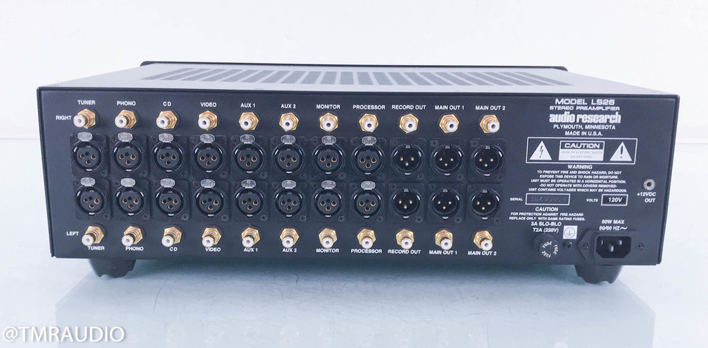Audio Research LS26 Stereo Tube Preamplifier; LS-26; Remote