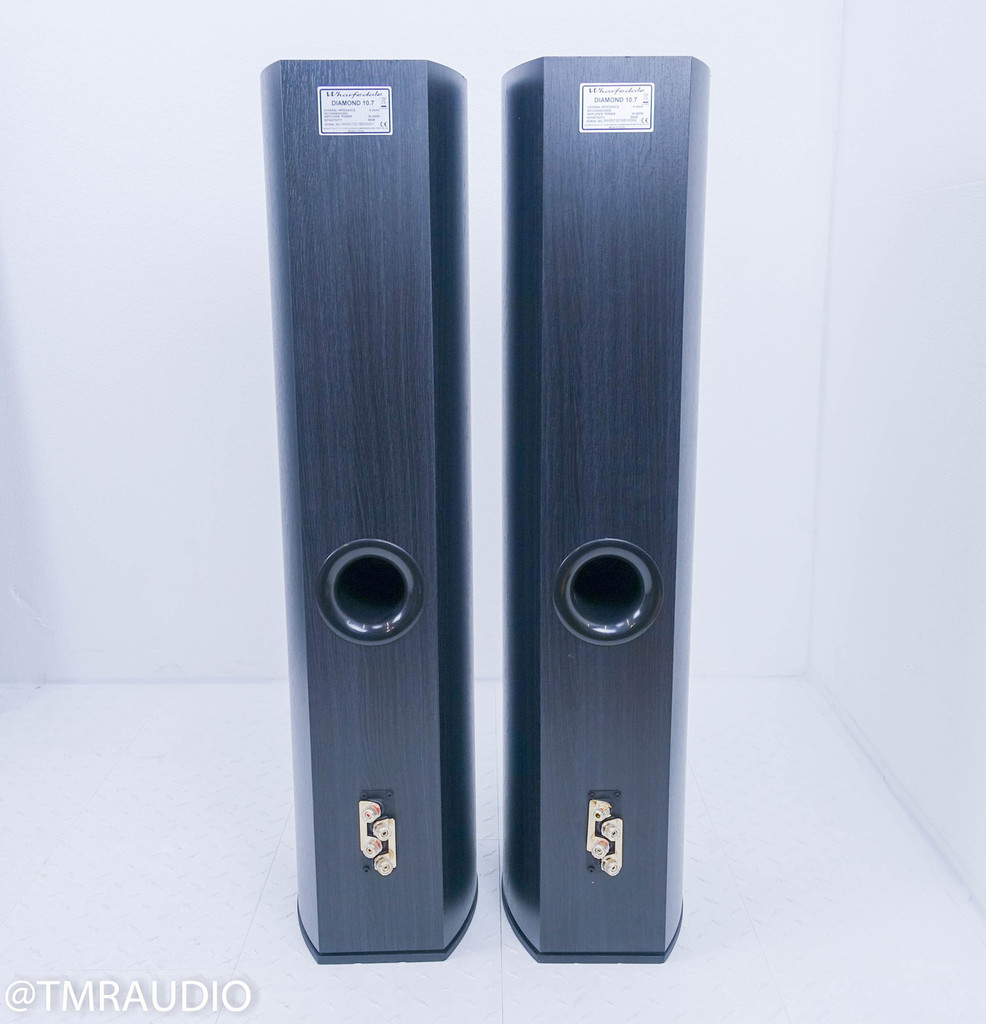 Wharfedale Diamond 10.7 Floorstanding Speakers; Blackwood Pair
