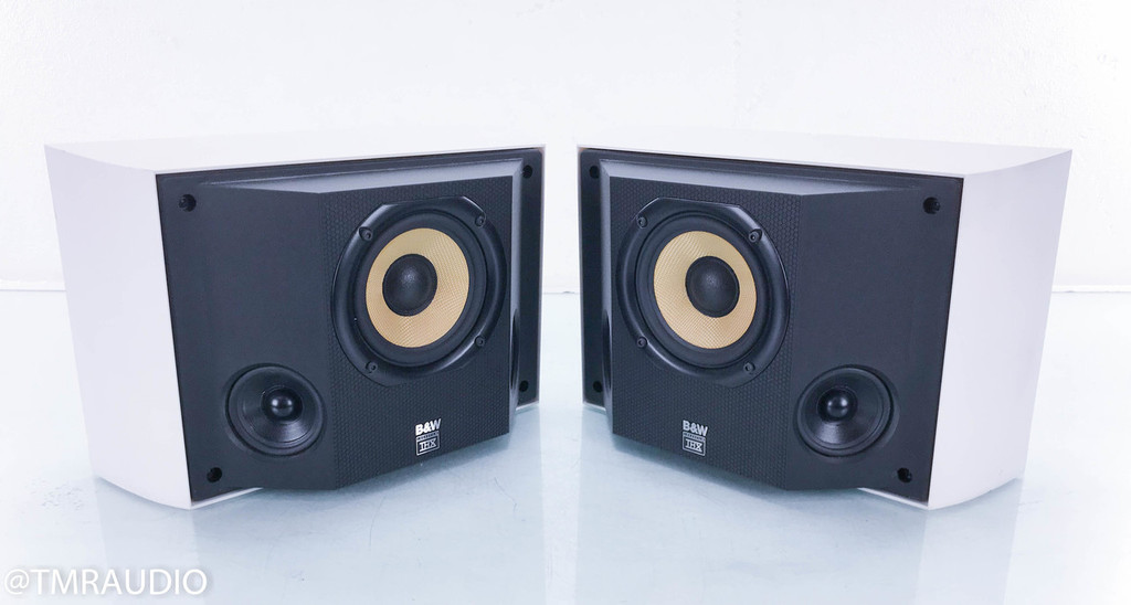 B&W DS6 Surround / Wall Mount Speakers; White Pair; DS-6