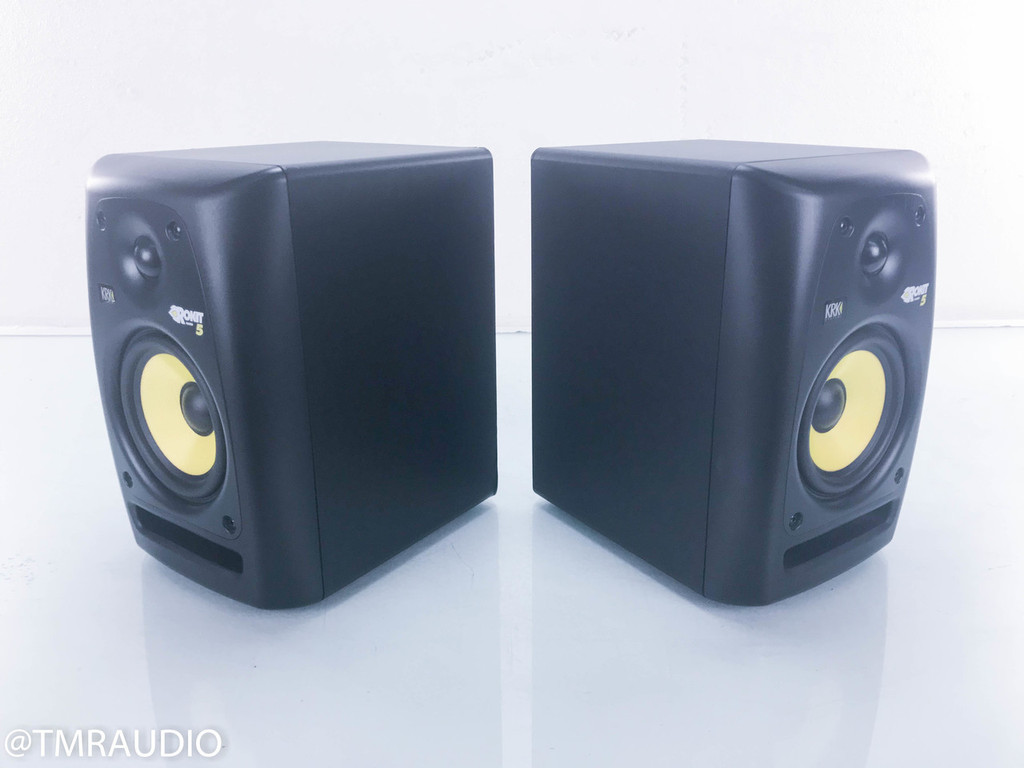 KRK Rokit 5 Powered Bookshelf Speakers; Black Pair