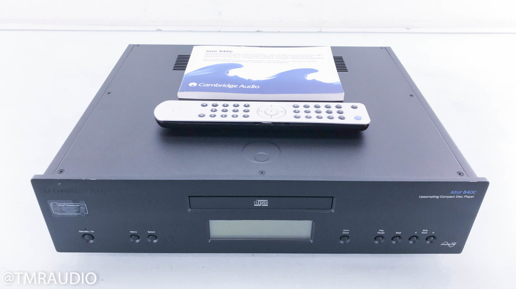 Cambridge Audio Azur 840C Upsampling CD Player; Black; Remote