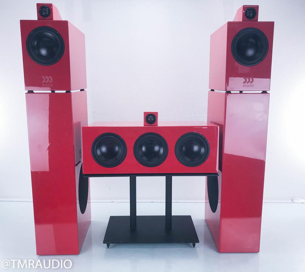 Morel Octave 5.2M 5 Speaker Surround System; Ferrari Red Set