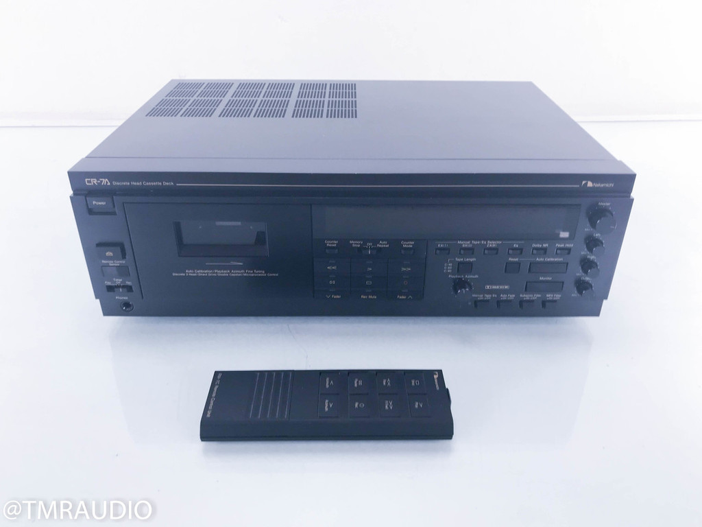 Nakamichi CR-7A Cassette Deck; Tape Recorder; Remote (Recently Serviced)