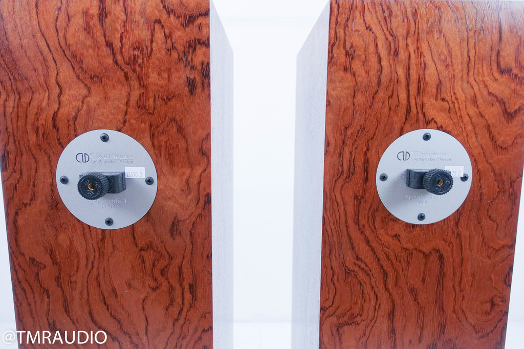 Clearwave Symphonia 1 Floorstanding Speakers; Walnut Burl Pair