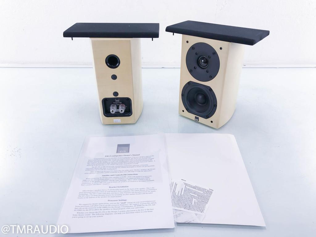 Era Design 4 Sat Bookshelf / Satellite Speakers; Sycamore Pair