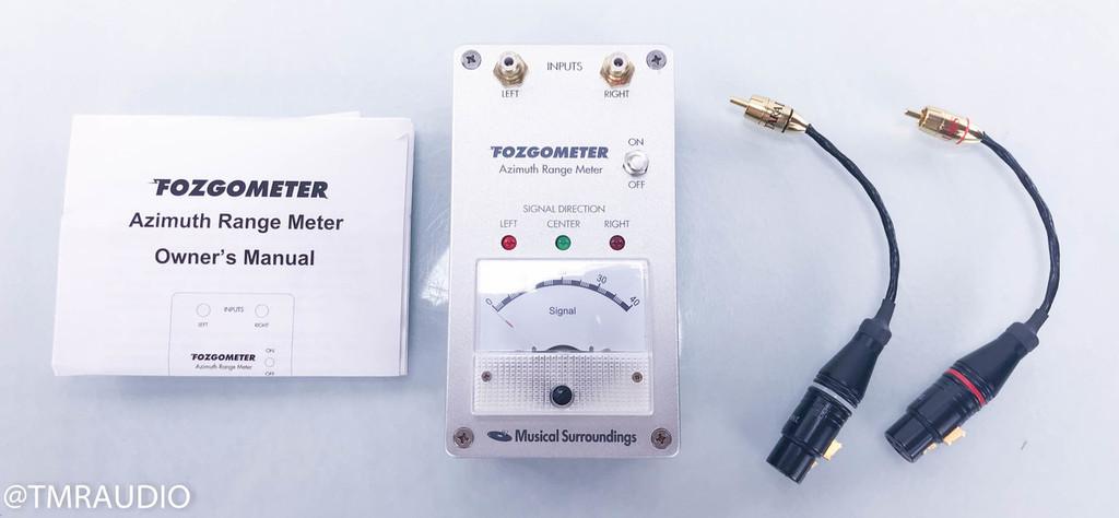 Musical Surroundings Fozgometer Azimuth Range Meter; Tara Labs XLR Adapter Cables