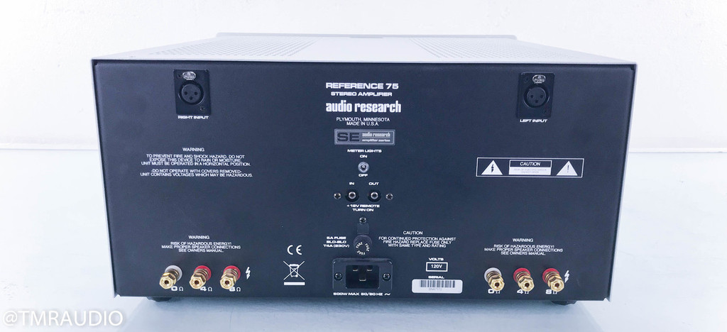 Audio Research Reference 75 SE Stereo Tube Power Amplifier; ARC 75SE