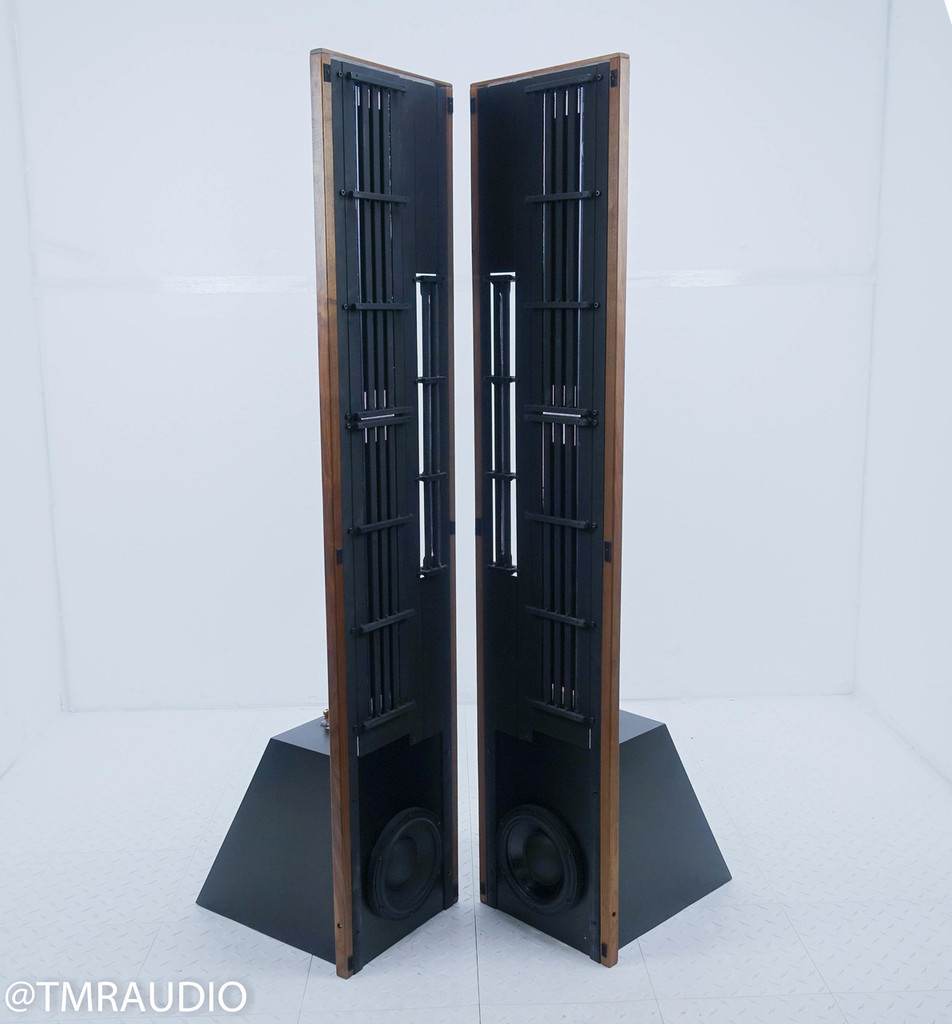 Eminent Technology LFT-8b Magnetic Planar Speakers; Sound Anchor Stands; Walnut