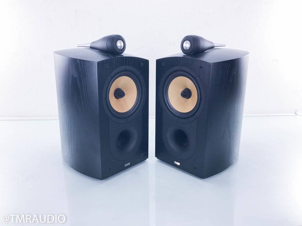 B&W Nautilus 805 Bookshelf Speakers; Black Ash Pair