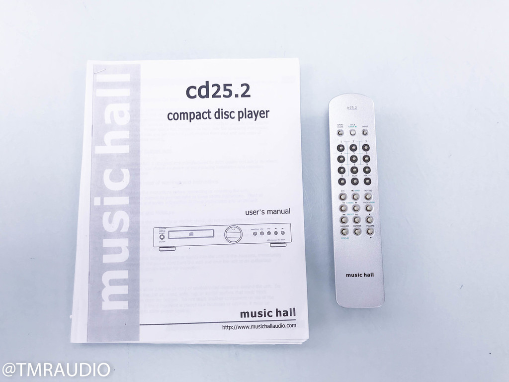 Music Hall CD25.2 CD Player; Remote