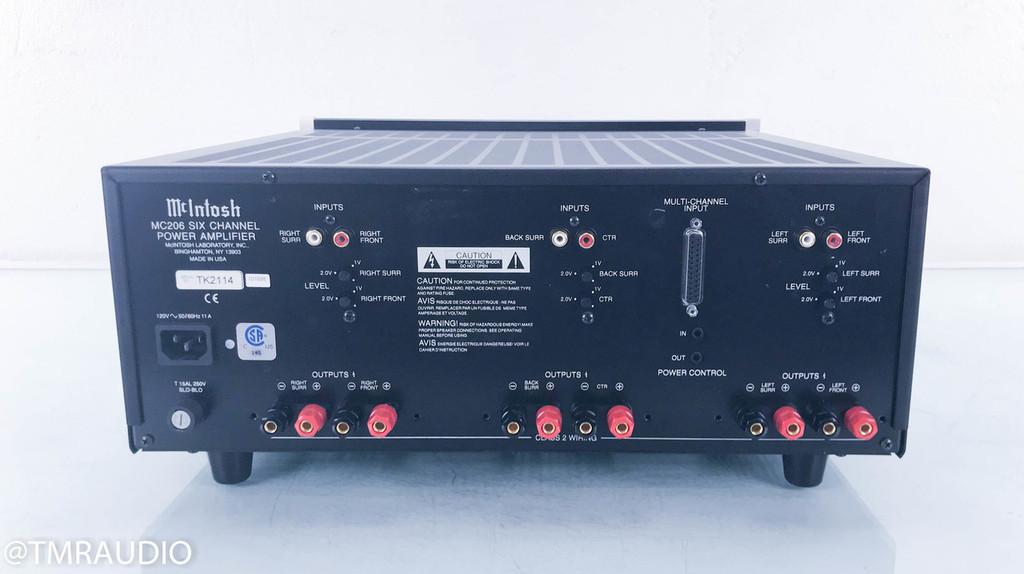 McIntosh MC206 6 Channel Power Amplifier; MC-206