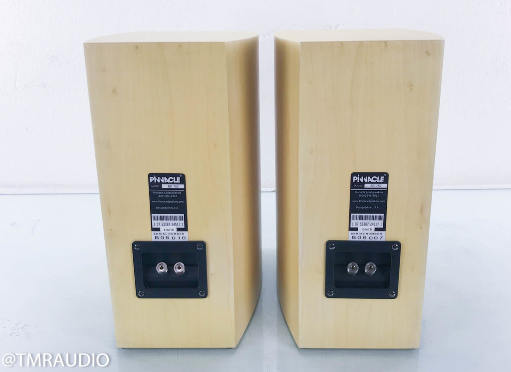 Pinnacle BD 750 Bookshelf Speakers; Natural Maple Pair (New Old Stock)