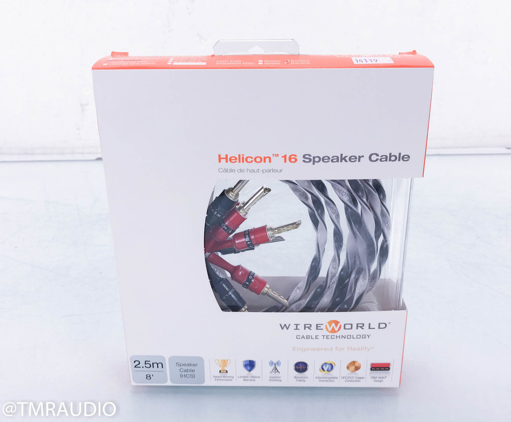 Wireworld Helicon 16 OCC Copper (HCS) Speaker Cables; 2m Pair