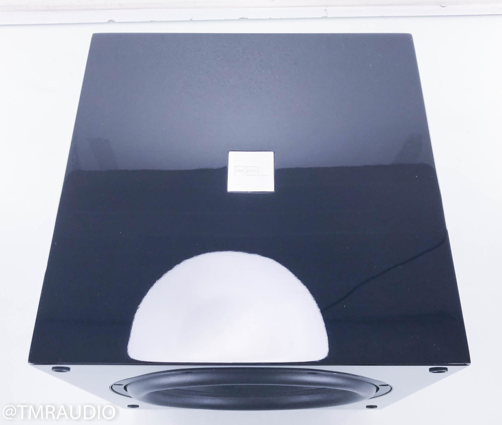 """REL T7 Powered 8"""" Subwoofer; Piano Black"""