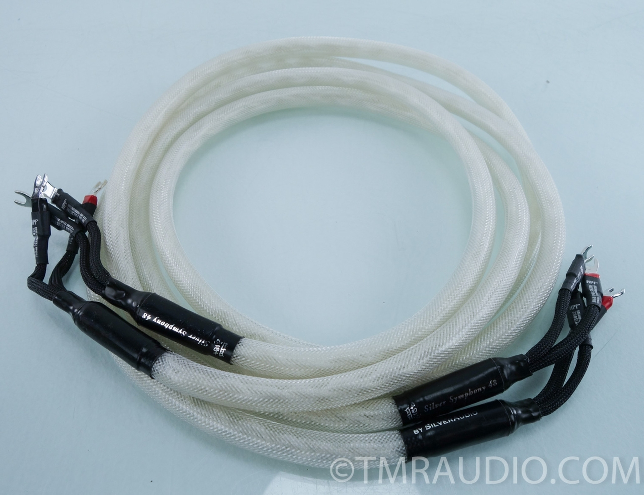 Silver Audio Silver Symphony 48 Speaker Cables; 8\' Pair; Spades ...