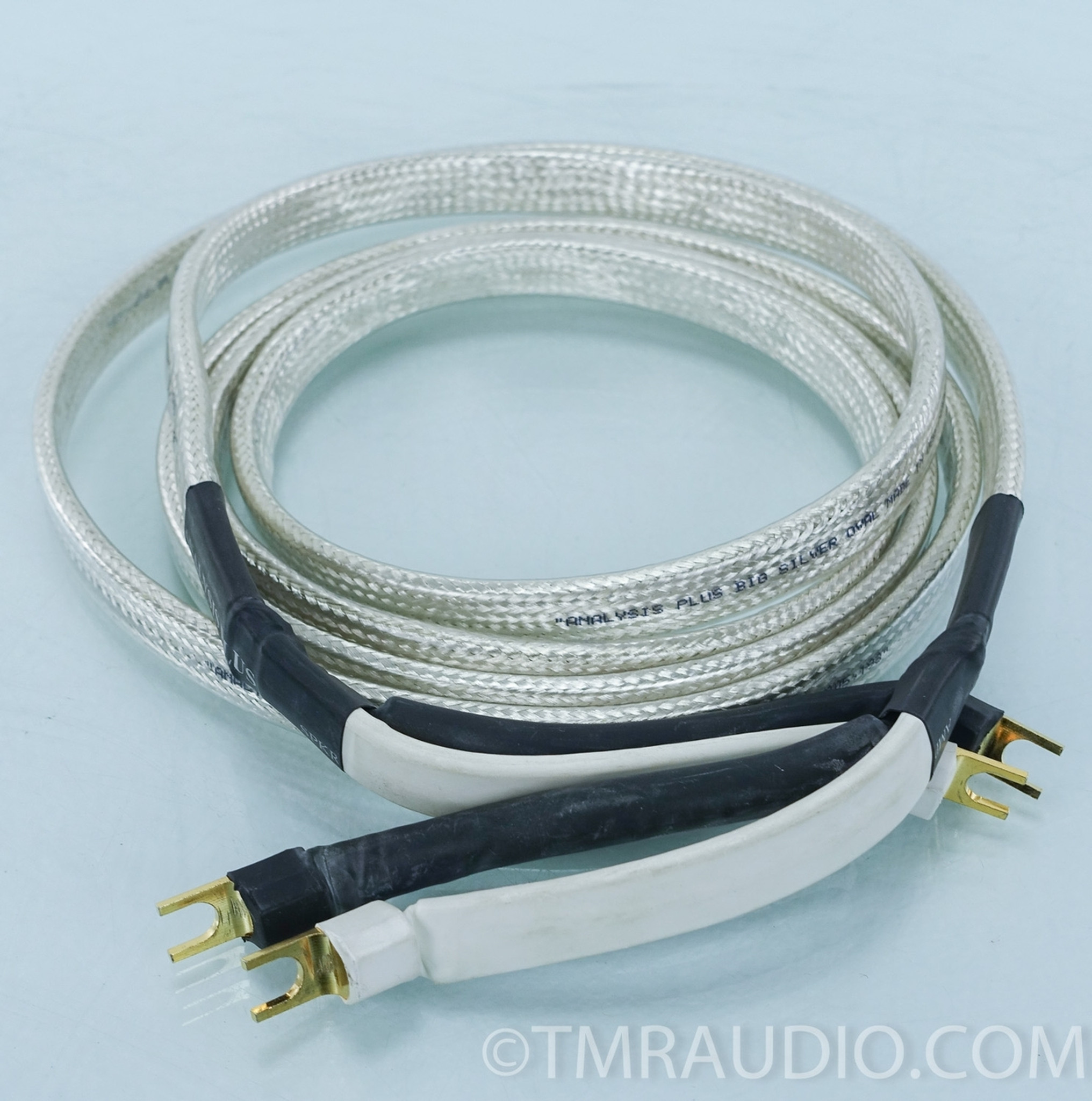 Analysis Plus Big Oval Silver Speaker Cables; 3m Pair - The Music Room