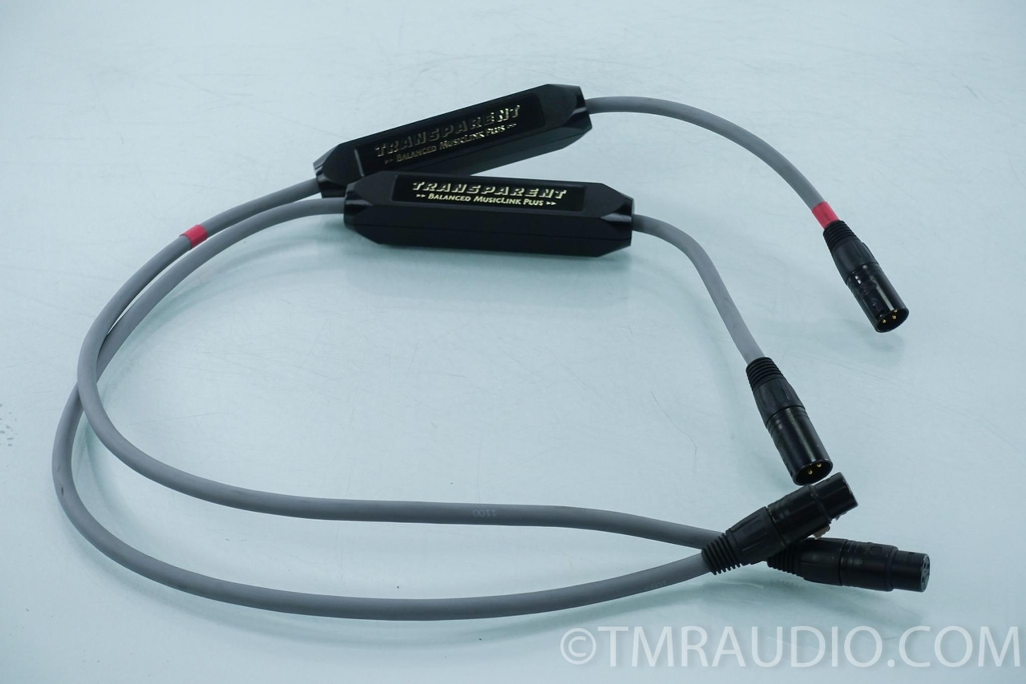 Transparent Balanced MusicLink Plus XLR Cables; 1m Pair ...