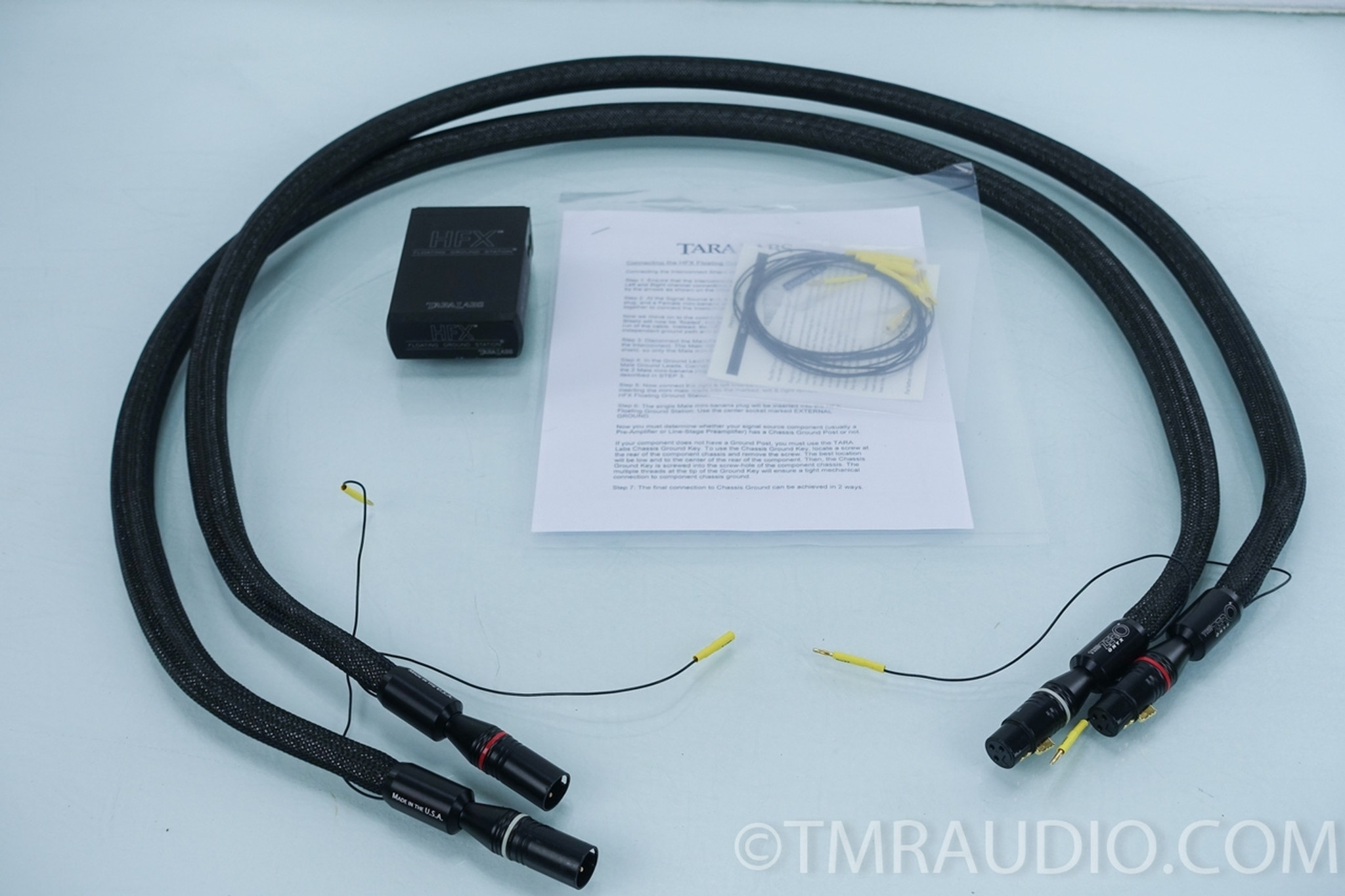 Tara Labs Onyx Zero XLR Cables; 1.5m Pair Interconnects - The Music Room