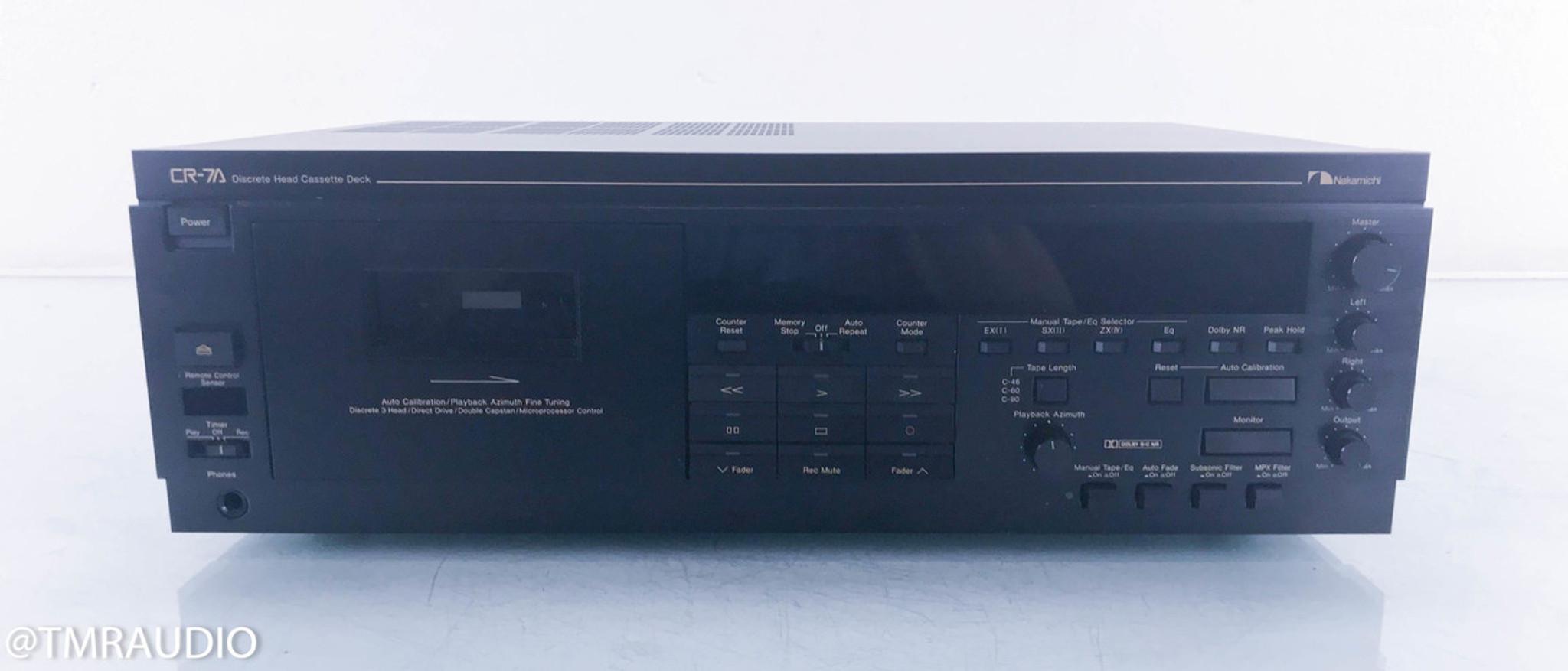 nakamichi cr 7a cassette deck tape recorder remote recently rh tmraudio com Nakamichi Car Audio Nakamichi Earphone