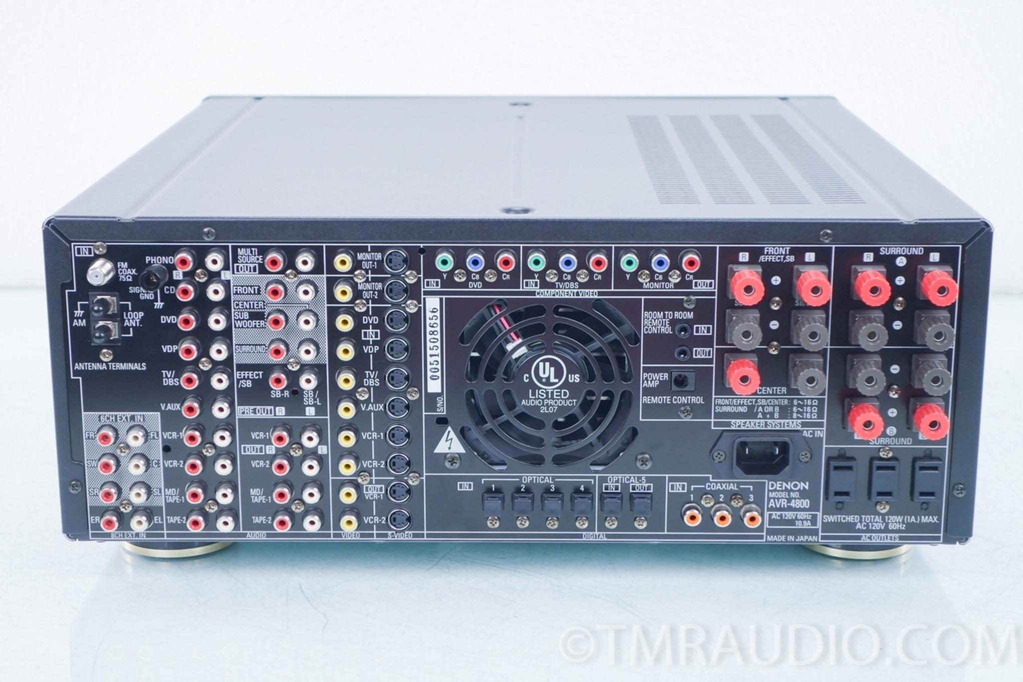 denon avr 4800 thx home theater receiver the music room rh tmraudio com Denon AVR 4311 Denon AVR 4311