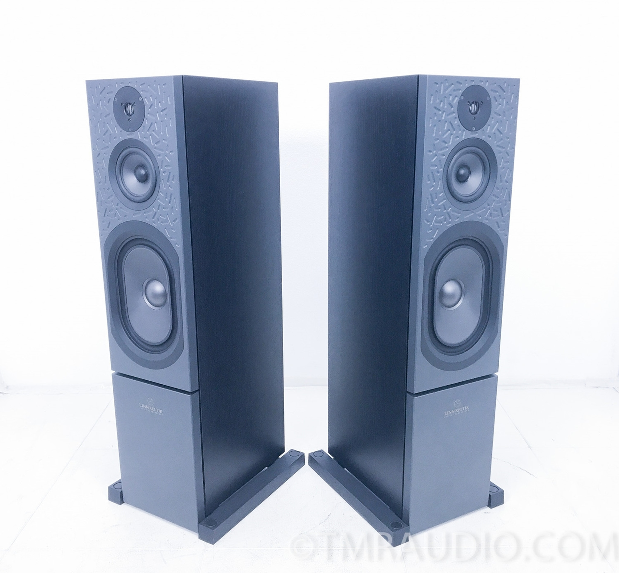 Linn Keltik Floorstanding Speakers; Black Pair; Upgraded Kustone ...