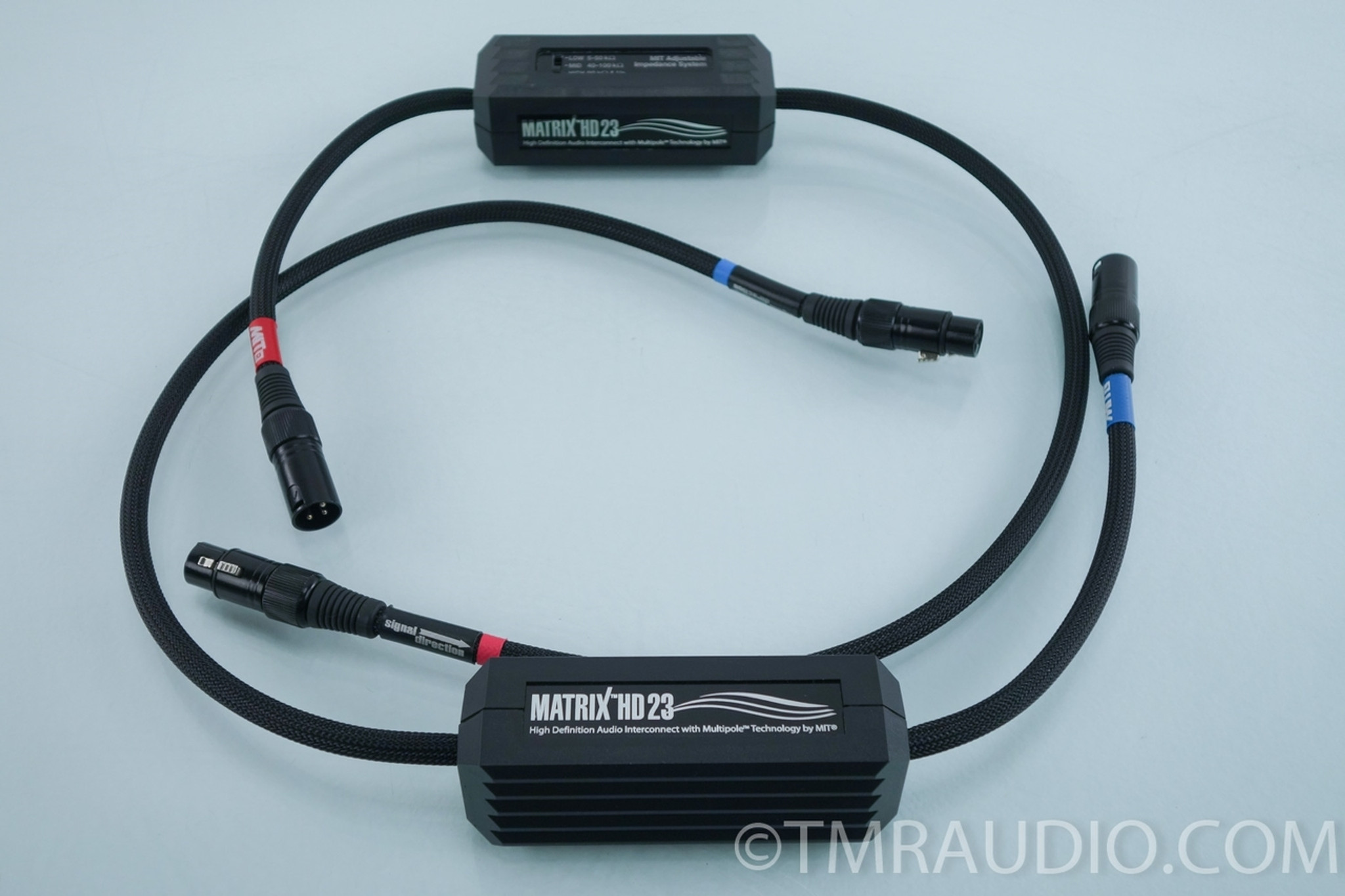 MIT Matrix HD 23 XLR Cables; 1m Pair Interconnects - The Music Room
