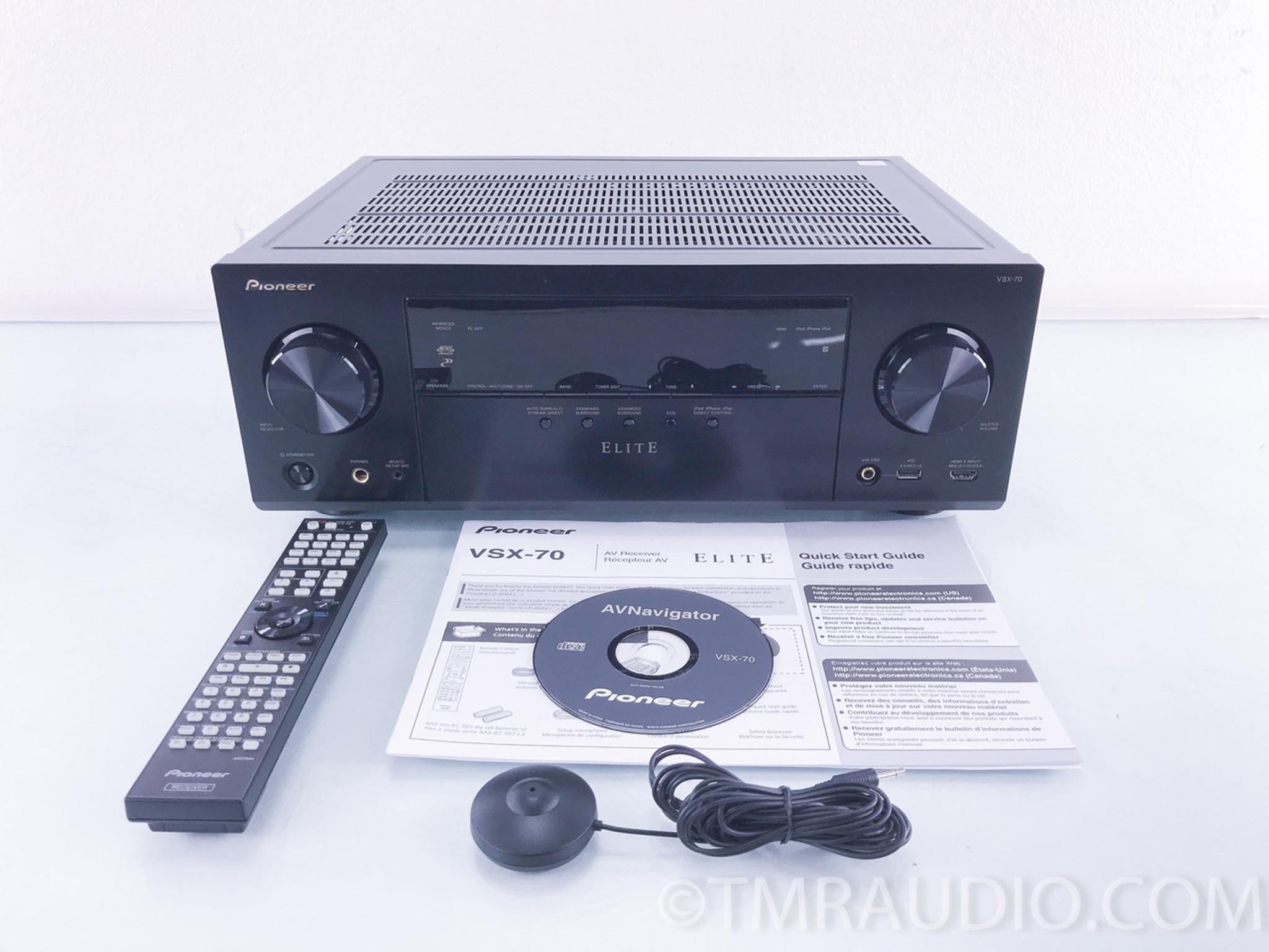 pioneer elite vsx 70 home theater receiver the music room rh tmraudio com pioneer elite vsx-70 manual Pioneer Receiver VSX -43