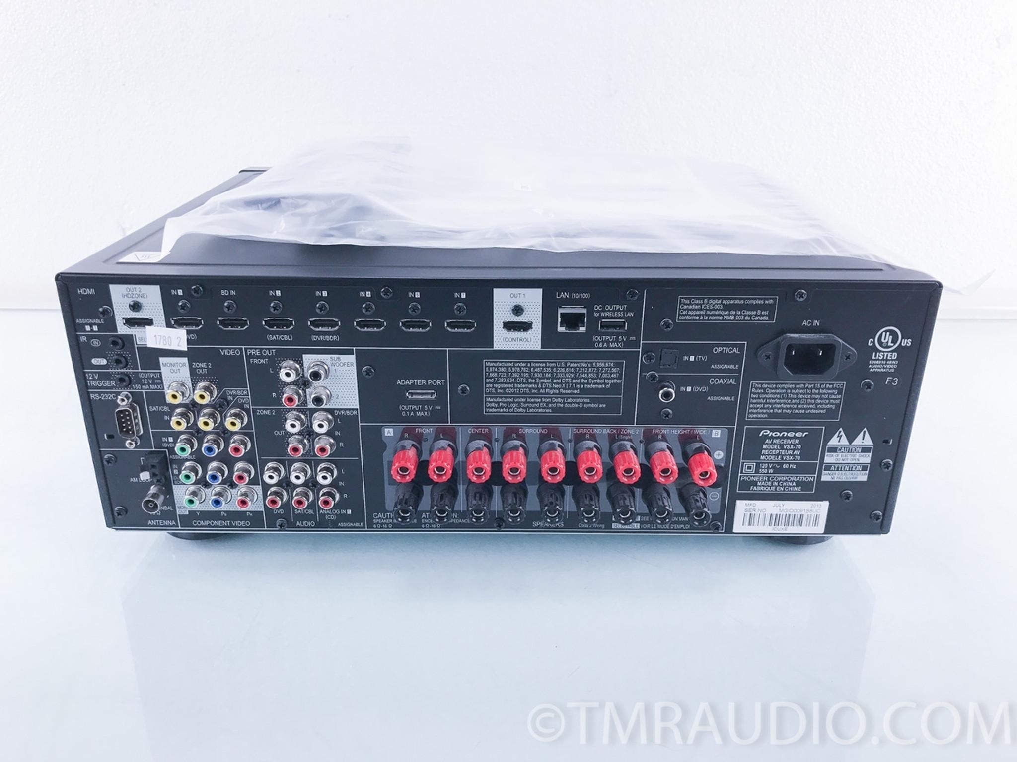 pioneer elite vsx 70 home theater receiver the music room rh tmraudio com Pioneer Receiver VSX -43 Pioneer Receiver VSX -43