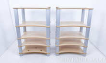 SolidTech Radius Solo 5 Audio Rack; Birch / Silver