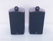 B&W Nautilus 805 Bookshelf Speakers; Red Cherry Pair; Bowers & Wilkins