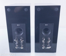 KEF Reference 1 Bookshelf Speakers; Piano Black Pair (Custom Blue Driver)