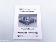Musical Surroundings Fosgate Signature Tube Phono Preamplifier; MM / MC