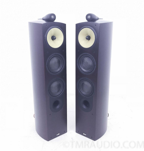 B&W Nautilus 804 Floorstanding Speakers; Red Cherry Pair 1