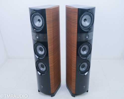 Focal Electra 1028 BE II Floorstanding Speakers; Dogato Walnut